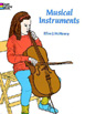 Musical Instruments Coloring Book by Ellen J. McHenry‏
