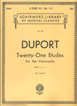 Duport,  21 Etudes - Book 1