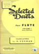 Selected Duets for Flute volume 1 Easy to Medium by H.voxman HL 04470920 דואטים לחליל