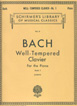 Bach J. S. , Well Tempered Clavier - Book 1 HL 50252030 הפסנתר המשווה באך