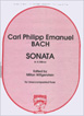 Bach C. P. E. , Sonata in A Minor for Unaccompanied Flute