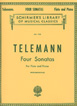 Telemann: Four Sonatas For Flute And Piano
