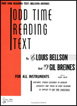 Odd Time Reading Text for All Instruments