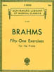 Brahms - Fifty One Exercises (for piano) HL50260430