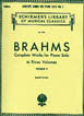 Brahms Complete works for Piano Solo volume II