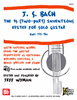 Bach ,The 15 Two part Inventions edited for solo Guitar